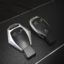 Hot Sales 3 Buttons Metal Remote Key Case Cover Shell Key Chain Ring Flip Key Fob Shell Cover For Mercedes-Benz Class B C E S боденхамер б нлп большая книга эффективных техник