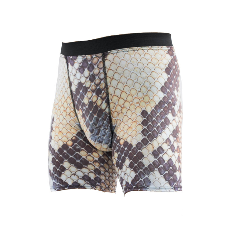 Sports Fitness Digital Printing 3D Snakeskin Tight Shorts Men's Moisture Wicking Quick-Drying Outdoor Basketball Football