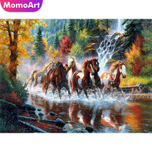 MomoArt DIY Diamond Painting Animal Mosaic Horse Embroidery Full Complete Kit Home Decoration Gift
