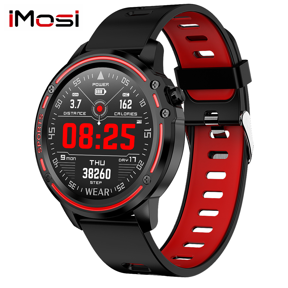 IMosi L8 PPG ECG Full Round Display Smart Watch Men IP68 Waterproof SmartWatch Blood Pressure Heart Rate Sports Fitness Watches