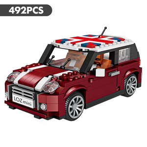 Image 5 - לוז טכני מיני אבני בניין רכב Assemable צעצועים חינוכיים לילדים חיפושית Creatored משטרת משאית רכב צעצועי לבנים