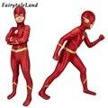 Детский костюм для косплея Барри Аллена, костюм супергероя Зентаи с 3D принтом, на Хэллоуин, костюм для мальчиков, 6 сезон