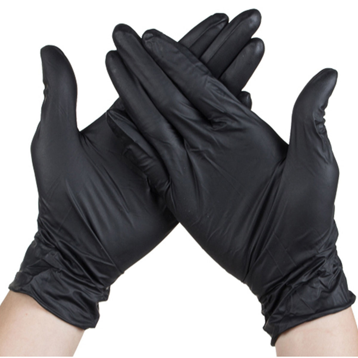 100pcs Disposable Latex Ruber Gloves Cleaning Work Finger Gloves Protective For Surgical Safety Black