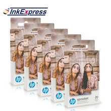 InkExpress Sticky-Backed Photo Paper 5 Boxes For HP Sprocket Photo Printer For Gloss HP Zink Pocket Photo Paper 5*7.6cm