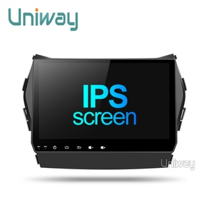 Image 2 - Uniway AIX459071 IPS android 9.0 araç DVD oynatıcı Hyundai IX45 Santa fe 2013 2014 araba radyo stereo navigasyon araba DVD OYNATICI gps