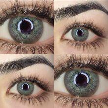 2 pcs/par 2020 novo russo menina série lentes de contato colorido lente de contato uso anual