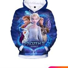 Children Clothing Sweatshirts Hoodies Tracksuit Toddlers Elsa Kids Cartoon 3d-Printing