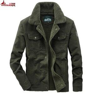 Tamanho grande 6xl 7xl 8xl grosso inverno quente militar velo carga jaqueta masculina 100% algodão casual jaqueta de vôo da força aérea roupas masculinas