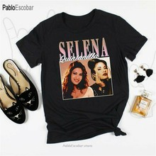 Selena Quintanilla T-shirt Mannen Vintage 90 S Geïnspireerd Tee, Selena Quintanilla Unisex, Tee Shirt Trendy Streetwear(China)