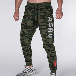2019 Gyms Mens Joggers Skinny Sweat Men Pants Embroidery Cotton Tights Sweatpants Men Side Zipper Trousers(China)