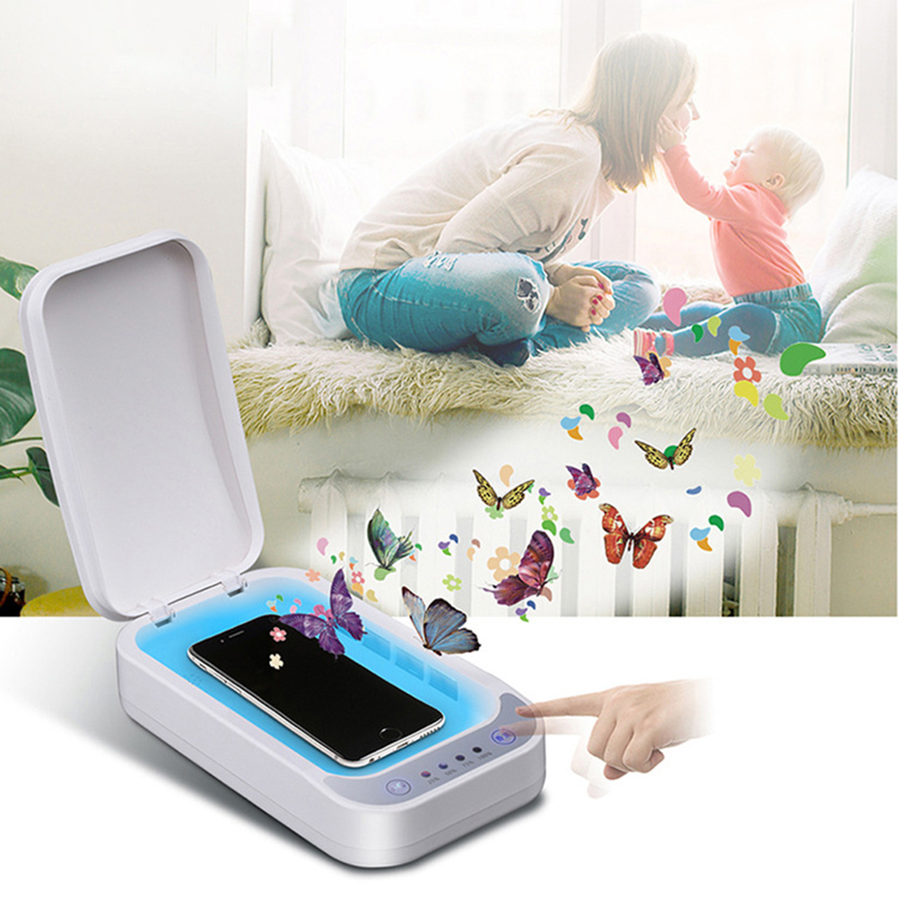 UV Sterilizer Box Disinfection Cabinet Dryer Machine For Mobile Phone Cleaning Ultraviolet UV LED Disinfector Box