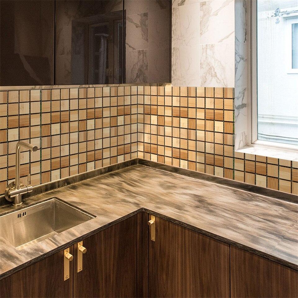 - 10/20/30 Pc 3d Self Adhesive Metal Mosaic Tile Backsplash For