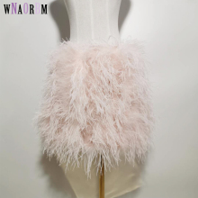 Fur Coat Real-Ostrich-Fur Women's Short Customizable 100%Natural Skirt Underwear Bra
