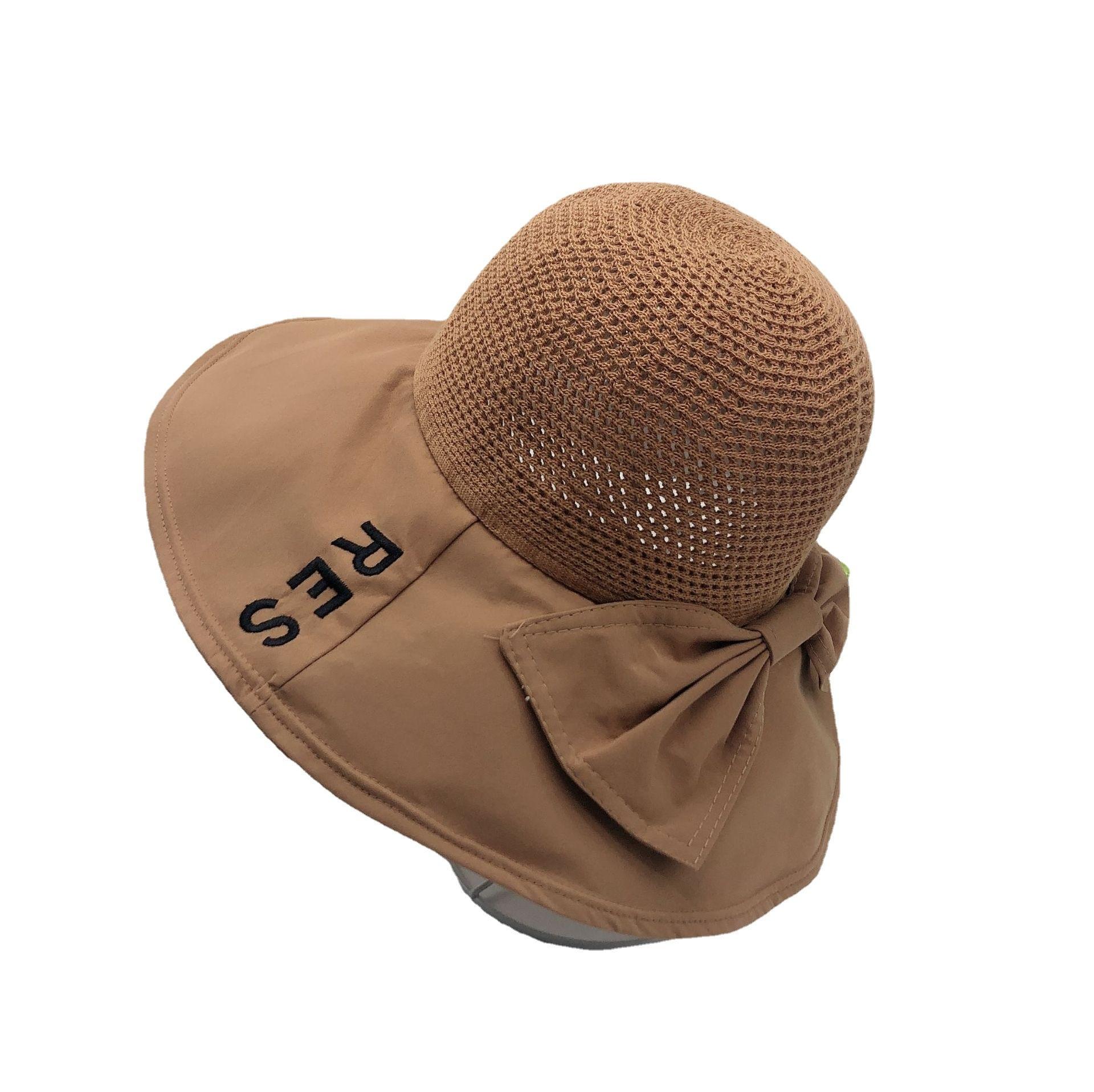 Women's sunscreen bow breathable fisherman's hat sun hat sunshade