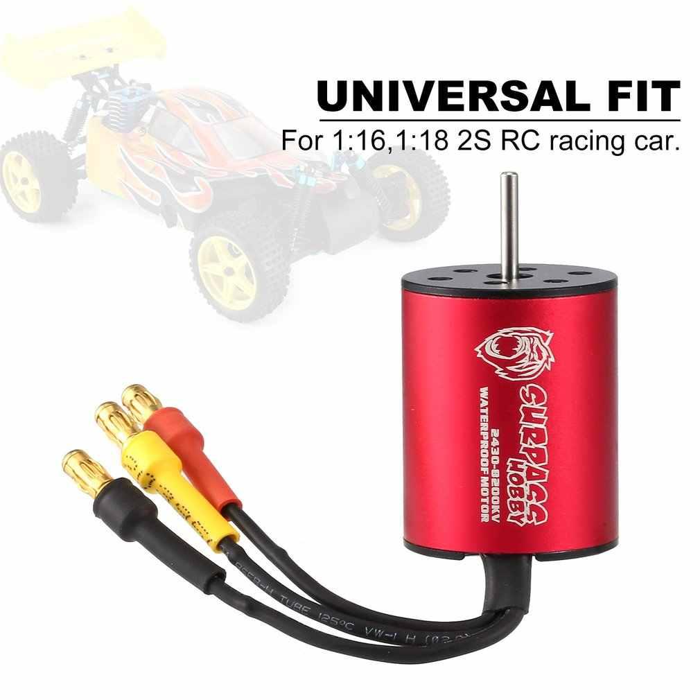 SURPASSHOBBY 2430 8200KV/6300KV Motor sin escobillas 2S para 1:16, 1:18 GTR/Lexus RC Drift Racing Car impermeable sin sensor parte de camión