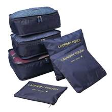 6 sztuk/zestaw organizator podróży torby do przechowywania przenośny bagaż organizator ubrania Tidy etui walizka opakowanie Cube Case