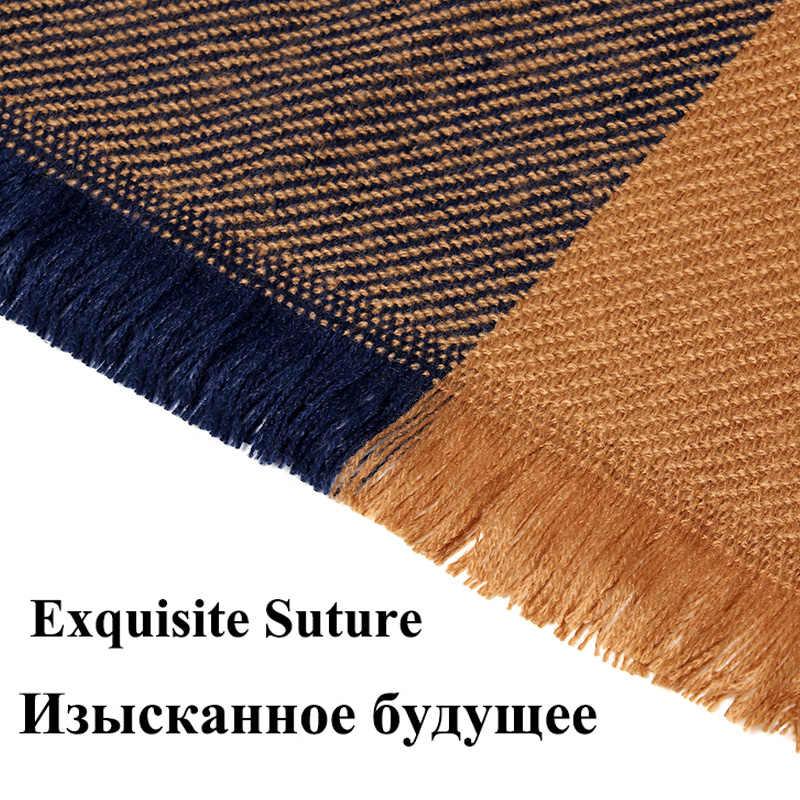 ฤดูหนาวผ้าพันคอผ้าพันคอผู้หญิงผ้าพันคอผ้าพันคอผ้าห่มใหม่Designerสามเหลี่ยมPashmina ShawlsและScarves 140*140*210ซม.