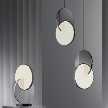 Eenvoudig ontwerp Cross vorm LED Hanglamp Moderne Bar Restaurant hoge glossy rvs Hanger Lamp