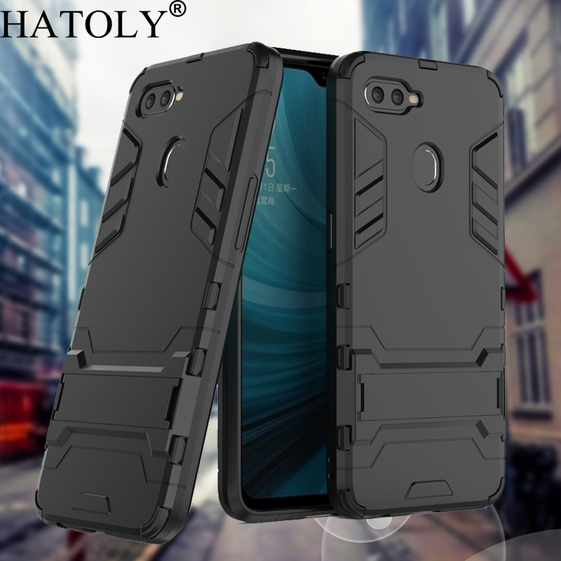 HATOLY For Armor Case OPPO AX7 Case Shockproof Robot Silicone Rubber Hard Back Phone Cover For OPPO AX7 AX7 Pro CPH1893 CPH1901 image