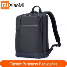 شاومي Mi حقائب الظهر الكلاسيكية الأعمال 17L سعة كبيرة الطلاب حقيبة كمبيوتر محمول الرجال النساء حقائب للكمبيوتر المحمول 15 بوصة دائم