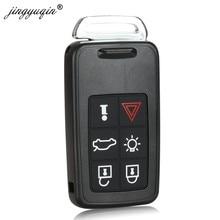 Jinyuqin funda inteligente para llave de mando a distancia de repuesto para Volvo XC60 S60 S60L V40 V60 S80 XC70 6 botones funda inteligente para llave de coche cubierta