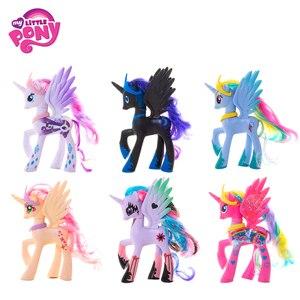 Dibujo unicornio arcoíris de My Little Pony, 14cm, Pony Fluttershy Sparkle Rarit, modelo de figura de acción, regalo de cumpleaños y Navidad para niños