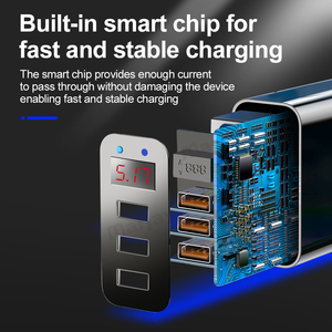 Image 3 - Marjay 3 Ports USB Charger EU US Plug LED Display 3.1A Fast Charging Smart Mobile Phone Charger For iphone Samsung Xiaomi Tablet