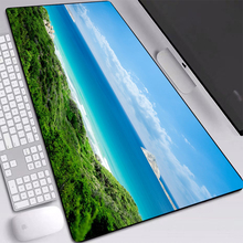 Green Grass Blue Sea White Cloud Mat Pads Big Professional Eco-friendly Natural Rubber Desk Mouse-pads Keyboards Pad 90x40cm