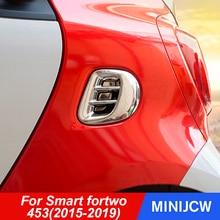 รถด้านหลัง Air Outlet สติกเกอร์ป้องกันคาร์บอนไฟเบอร์สำหรับ Smart Fortwo 453รถอุปกรณ์เสริม