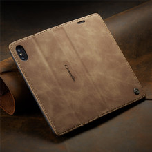 CaseMe for Iphone X Case Luxury Flip Wallet Leather 7 8 6 6s Solid Color Pu Shell Plus Phone