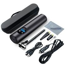 Bomba inflable portátil con compresor de aire para coche, compresor de aire portátil con interfaz USB de 12V y 150PSI para neumáticos de bicicleta, bolas, anillos de natación, presión de neumáticos TPMS