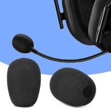 10 pçs fone de ouvido substituição espuma microfone capa para razer blackshark sobre fones mic capa windscreen fone espuma