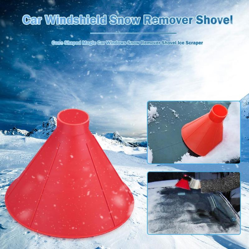 Car Magic Window Windshield Shaped Funnel Snow Remover Deicer Cone Deicing Outdoor Windows Glass Cleaning Tool Car Ice Scraper