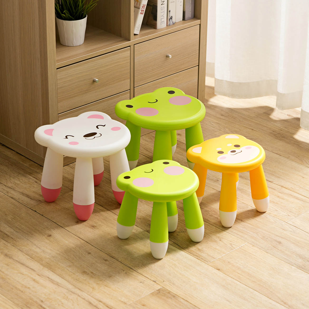 Kids Thicken Plastic Small Stool Living Room Adult Change Shoe Bench Bathroom Child Low Bench Baby Study Stool