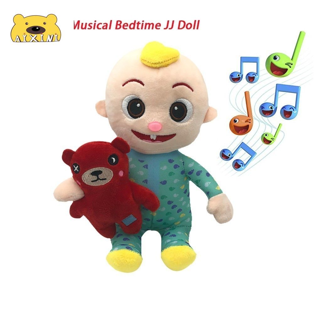 JJ Cocomelon Toys Doll Cocomelon Jj Doll Sing Kids Toys for Boys Cocomelon Bedtime Jj Music Doll Family Kid Gift Anime Plushie 2