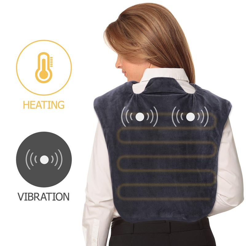 1PC Shoulder Massaging Wrap Breathable Heating Protective Strap Pad Support for Neck Pain Relief Shoulder Back A4