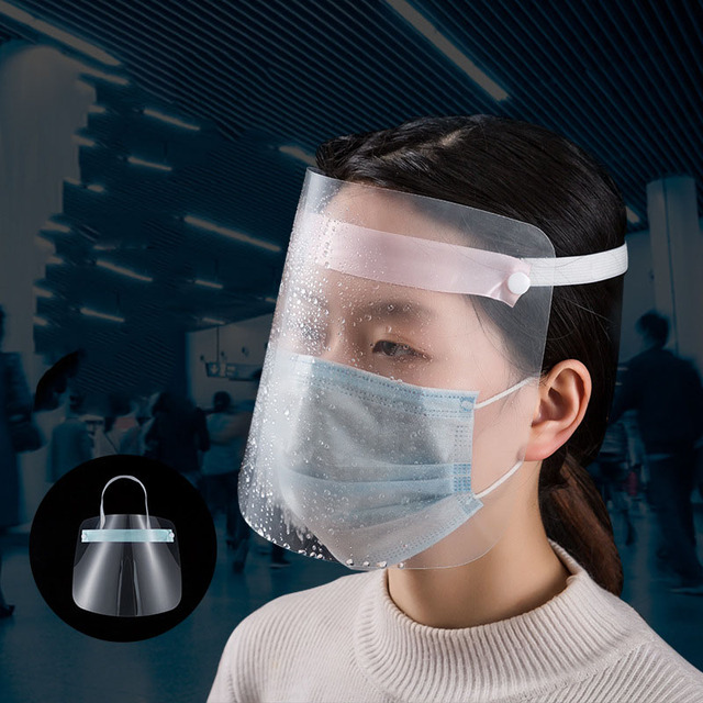 3 Pcs Transparent Masks Full Face Anti-droplets Anti-fog Saliva Face Shield Protective Cover protection Visor Shield Accessories