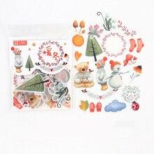 40 pcs /Bag Warm Winter Bear Snow Decorative Stickers Album Diary Hand Account Decor