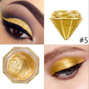 10 Color Liquid Glitter Eyeshadow Diamond Shape Metallic Shiny Smoky Eyes Eyeshadow Waterproof Single Pigment Eye Makeup TSLM1