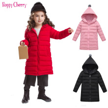 купить 2019 Autumn Winter Jacket For Girls Kids Jacket Coat Baby Warm Hooded Outerwear Coat Girls Clothing Children Long Down Parkas по цене 1438.1 рублей
