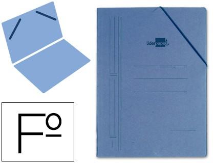 FOLDER LIDERPAPEL RUBBER FOLIO SIMPLE CARTON COMPACT BLUE 10 Units