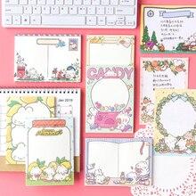 9 قطعة/الوحدة النسخة الكورية Mengmeng القط سلسلة كبيرة الحجم الطازجة وجميلة n مرات ملصقات مذكرة الوسادة