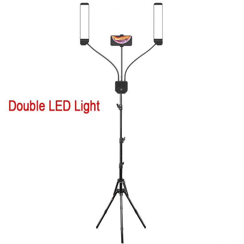 Профессиональное фотографическое освещение с двумя ручками для видео заполняющее светодиодный LED макияж телефон студия камера лампа с шта...