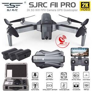 Image 1 - SJRC F11 4K PRO drone mit 2 achsen gimbal stabilisator kamera F11/F11 PRO GPS Drone 5G Wifi 1080P/2K Cam Quadcopter Vs SG906 Eders
