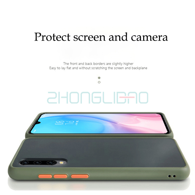 Shockproof Case for Xiaomi Redmi K20 8 8a 7A Note 8 8t 7 6 Pro Mi 9 9t A3 Cc9 Cc9e Note 10 Pro Matte Hard Back Silicone Cover