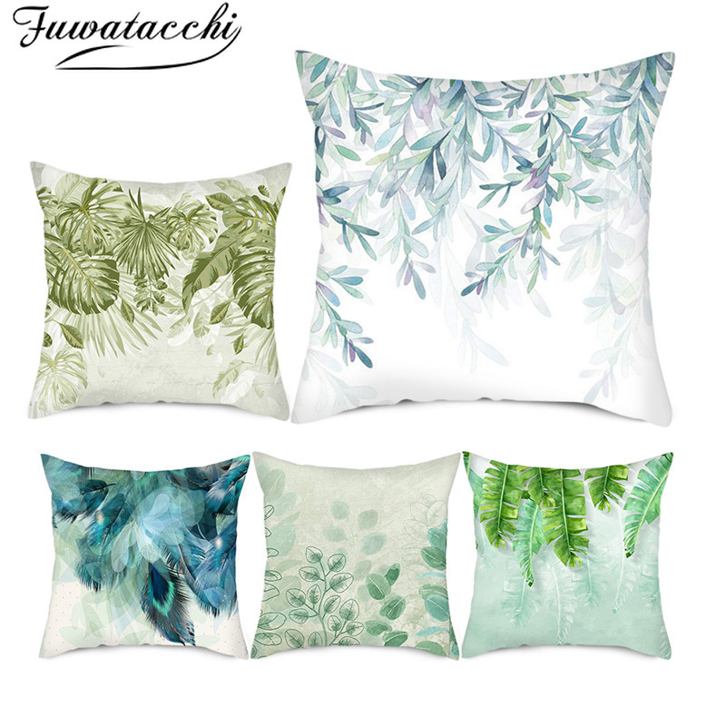 >Fuwatacchi Beautiful Peacock Cushion Covers <font><b>Colorful</b></font> Animal <font><b>Feather</b></font> Pillow Cases for Home <font><b>Sofa</b></font> Decorative Pillow Covers 45*45cm