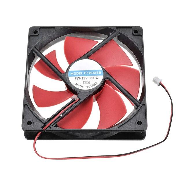1PC 컴퓨터 컵 쿨 냉각 팬 쿨러 12cm 120mm DC12V 1800R 2Pin PC 섀시 발산