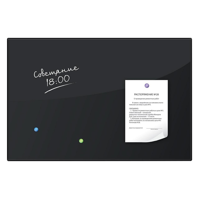 Board Magnetic Marker BRAUBERG, 60*90 Cm, Black
