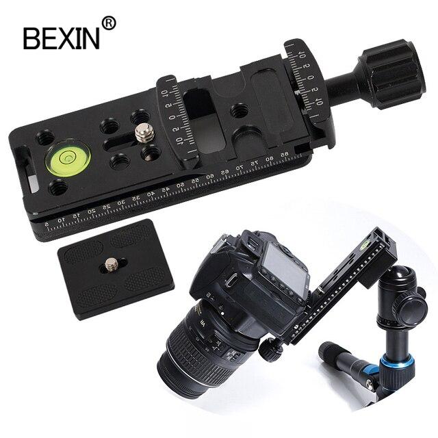 Morsetto per binario scorrevole per fotocamera dslr morsetto a sgancio rapido morsetto per fotocamera a doppio uso per area treppiede per fotocamera con piastra a scatto rapido 50mm