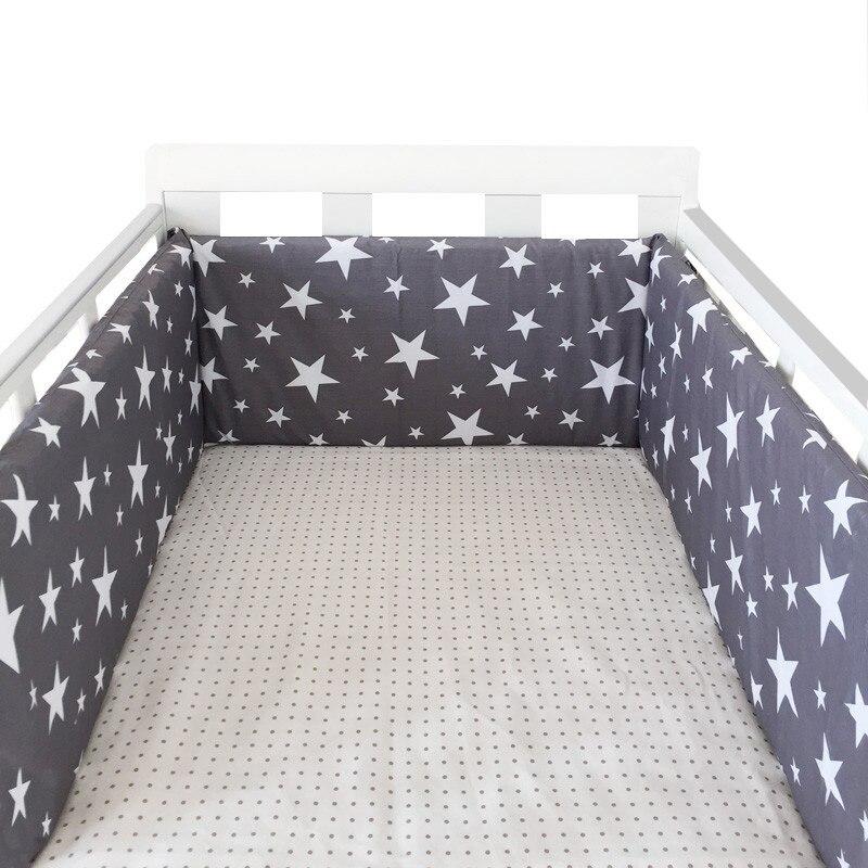 Diseño de estrellas nórdico para guardería de bebé, parachoques grueso para cuna de una pieza, cojín Protector para cuna, almohadas para decoración de habitación de recién nacidos